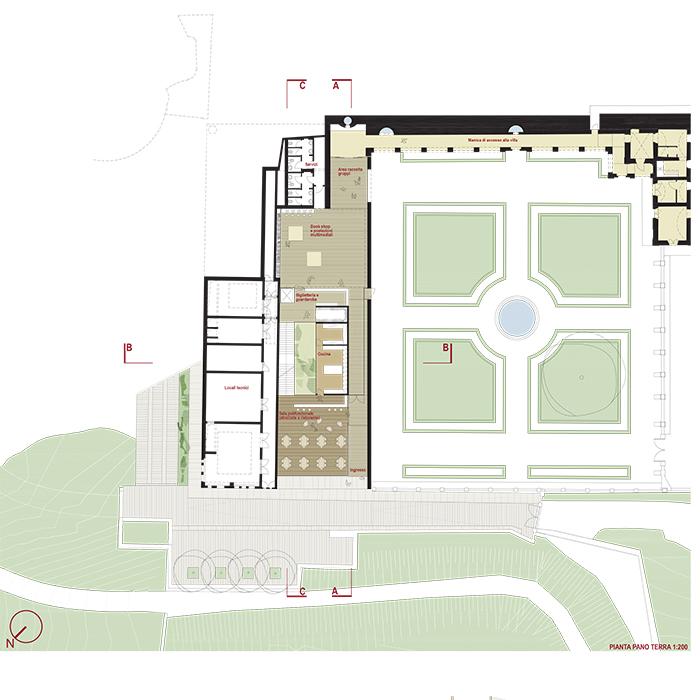 Villa della Regina_pianta piano terra